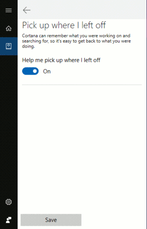 Windows 10 Pick Up Where You Left Off