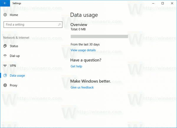 Windows 10 Reset Network Data Usage