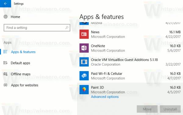 Windows 10 Uninstall Paint 3d