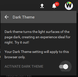 Youtube Enable Dark Theme