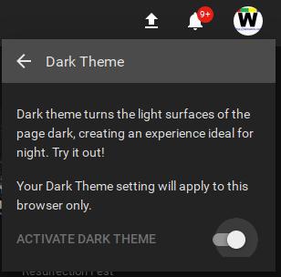 Youtube Enable Dark Theme