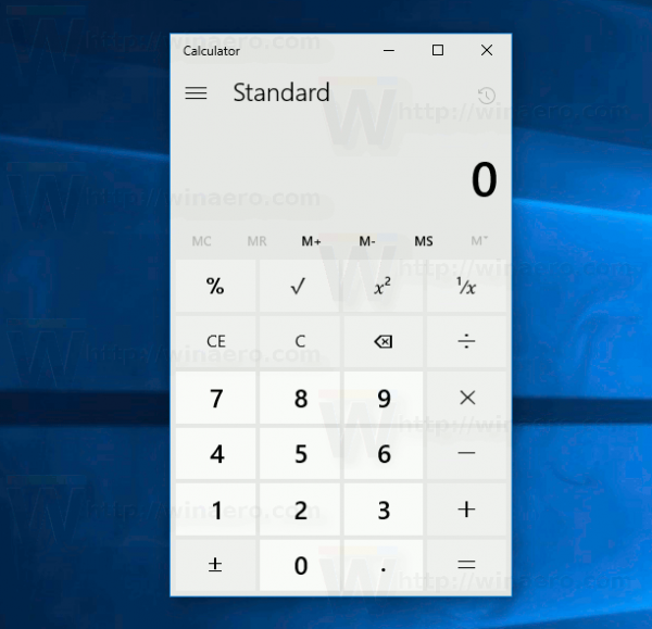 Default Calculator Windows 10