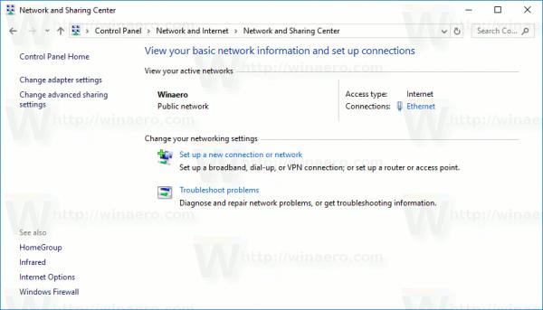 Network Type Is Public