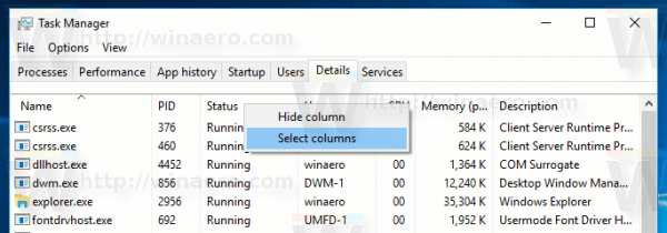Task Manager Tab Details Select Columns