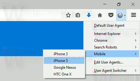 User Agent Switcher Select Ua