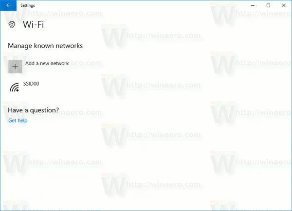 Wifi Known Network List