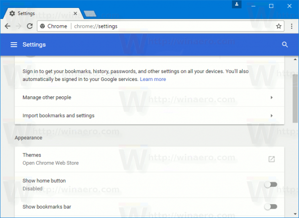 how to change google chrome settings
