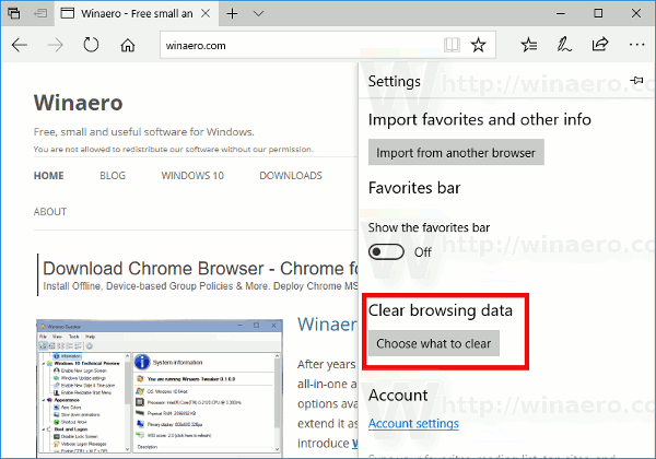 microsoft edge browser settings