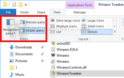 File Explorer Enable Details Pane Ribbon