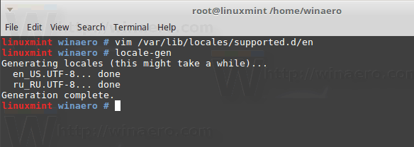 How to Remove Locale in Linux Mint