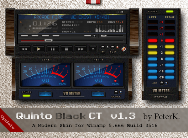 Quinto Black Ct 13 Is Out A Skin For Winamp
