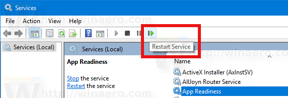 Restart Service In Windows 10