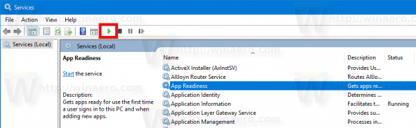 Start Service In Windows 10