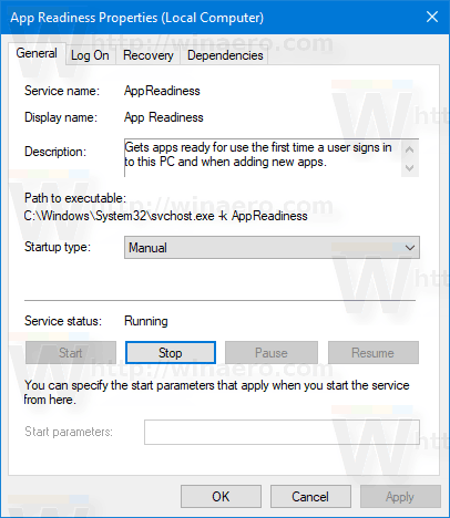 Stop Service In Windows 10 From Properties