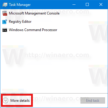 Task Manager Windows 10 Show More Details