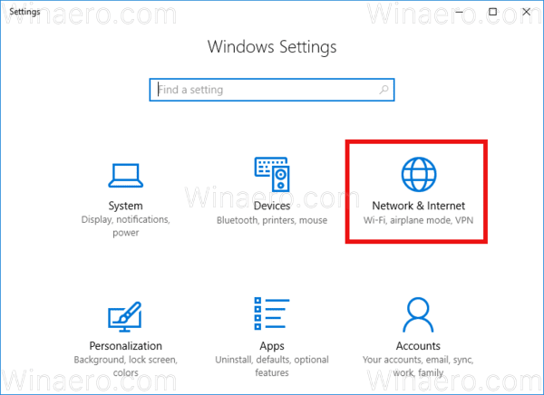 WIndows 10 Network And Internet Icon