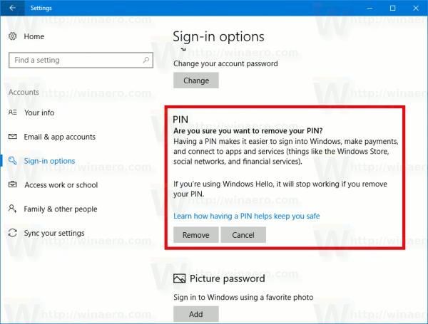 how to delete windows 10 user account password