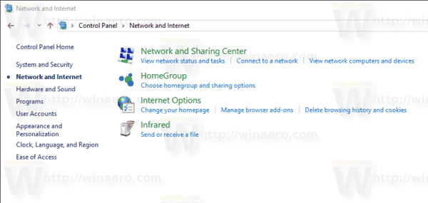 Windows 10 Control Panel Internet Options