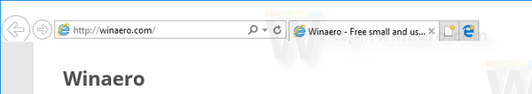 Windows 10 IE Edge Button