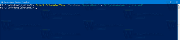 Windows 10 Backup Task Powershell