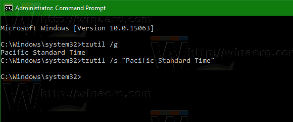 Windows 10 Cmd Set Timezone