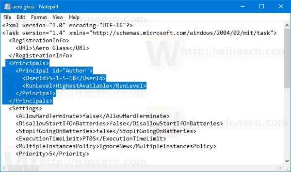 Windows 10 Edit Task File