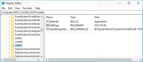 Windows 10 Exefile Key
