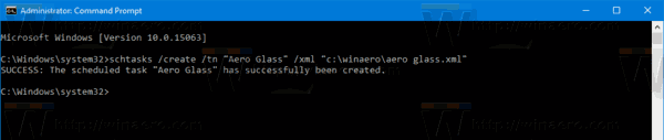 Windows 10 Import Task Cmd