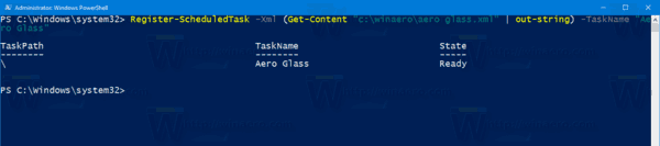 Windows 10 Import Task Powershell