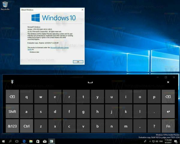 Windows 10 New Touch Keyboard 2