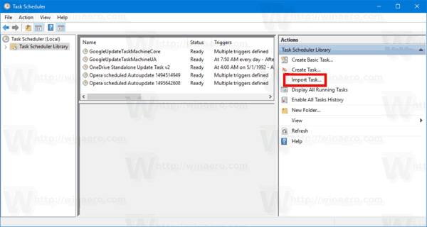 Windows 10 Restore Task