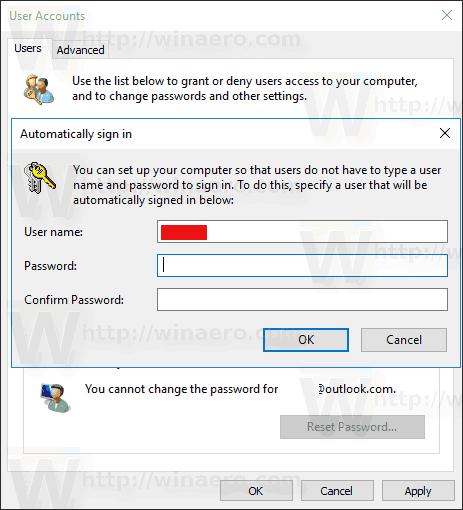 Fill In Password