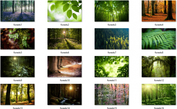 Forests Themepack