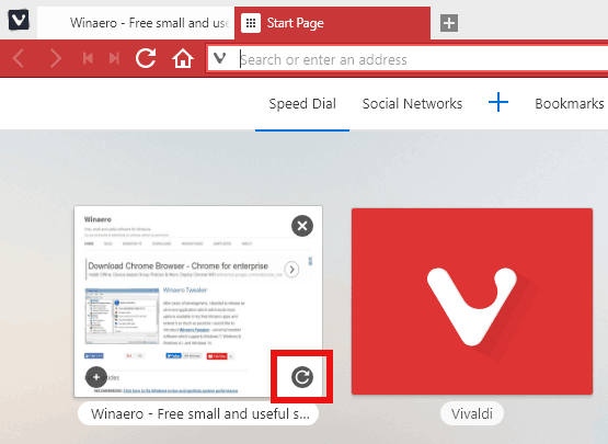 Reload Thumbnail Button In Vivaldi
