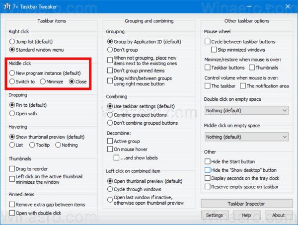 Taskbar Middle Click