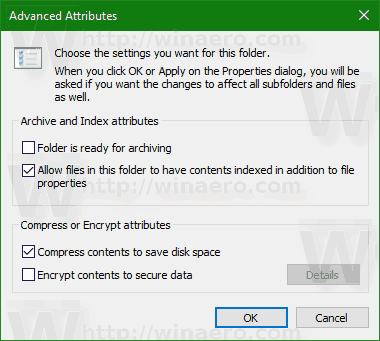Advanced Attributes Window