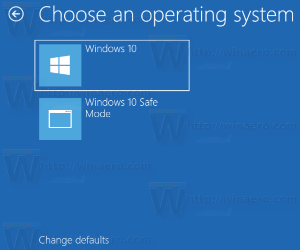 Boot Menu Choose An Operating System