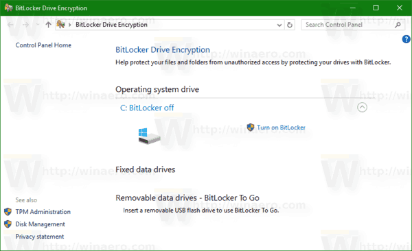 Butlocker Drive Encryption