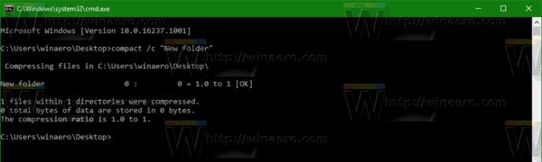 Compress Folder Without Subfolders Windows 10