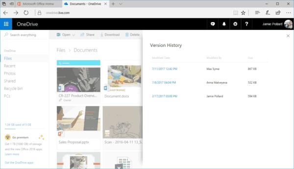 Expanding OneDrive Version History 2 1024x588