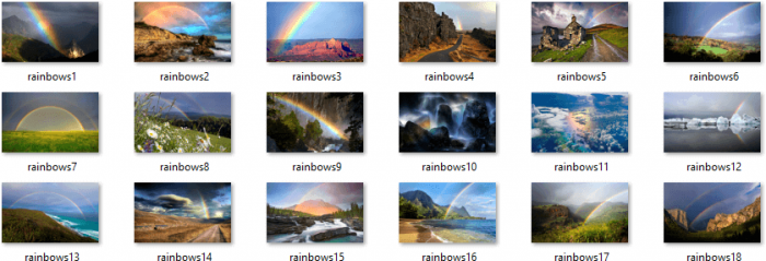 Rainbows Themepack Wallpapers