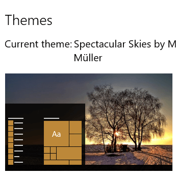 Spectacular Skies Themepack Icon