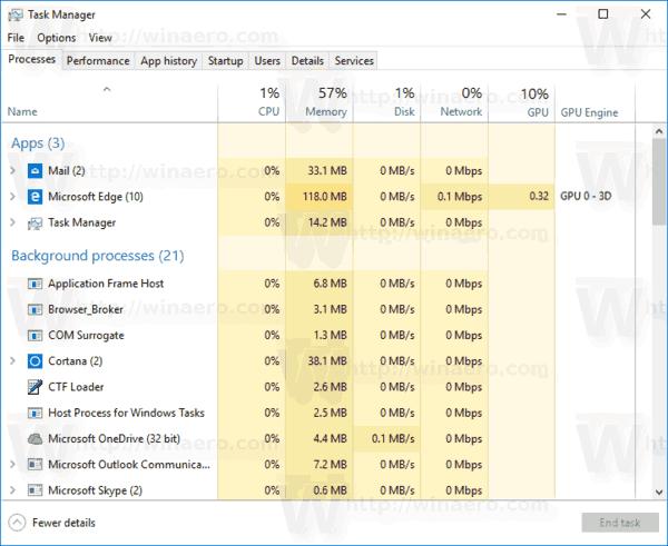 Task Manager GPU Columns