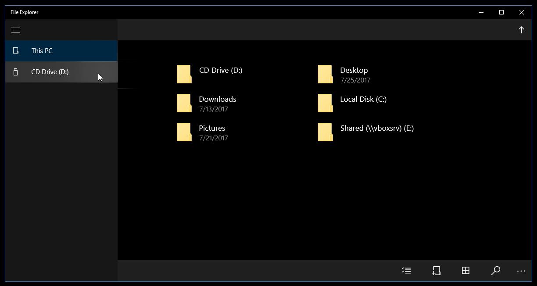 UWP File Explorer 03