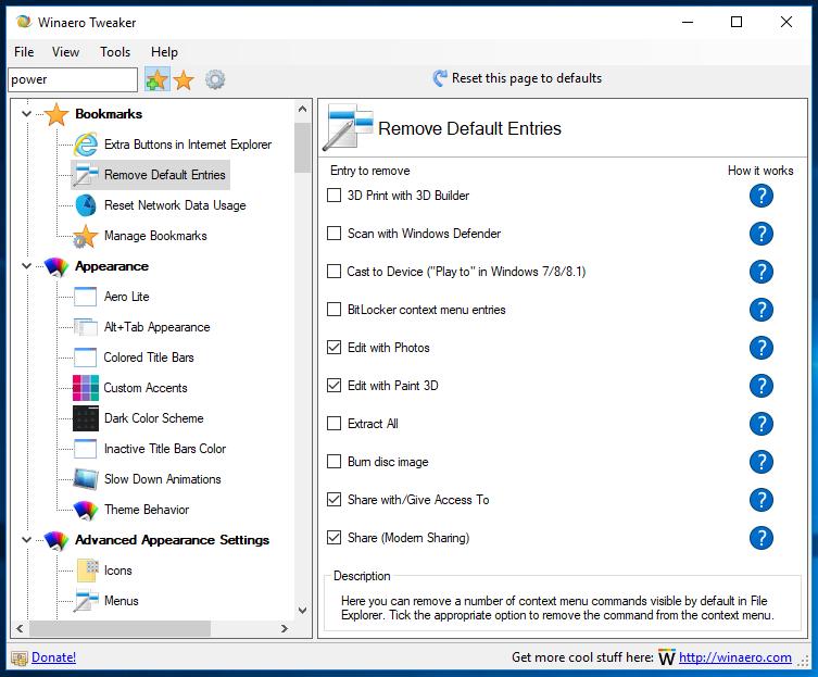 Remove Edit With Photos Context Menu In Windows 10