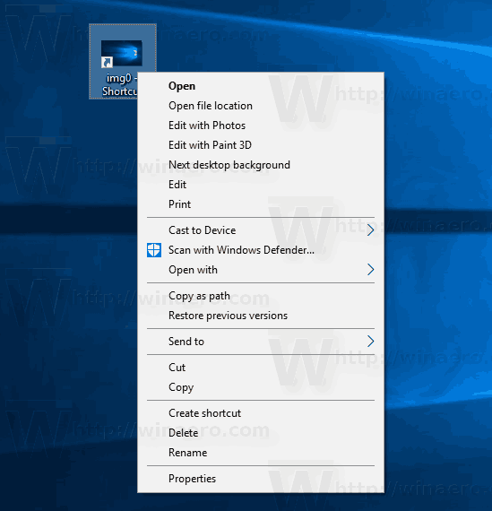 Windows 10 Edit With Photos In Extended Menu