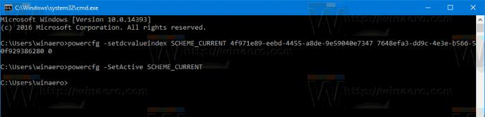 Windows 10 Activate Power Scheme
