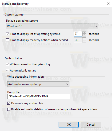 Windows 10 Change Boot Timeout GUI