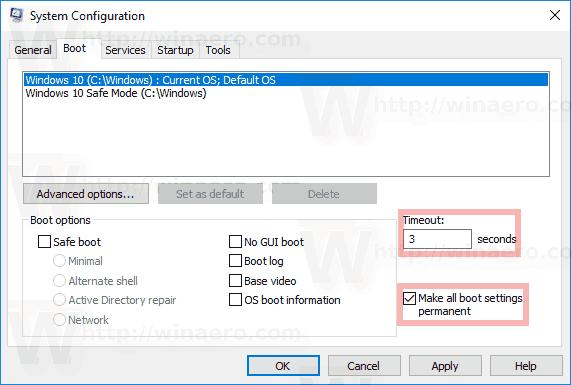 Windows 10 Change Boot Timeout Msconfig
