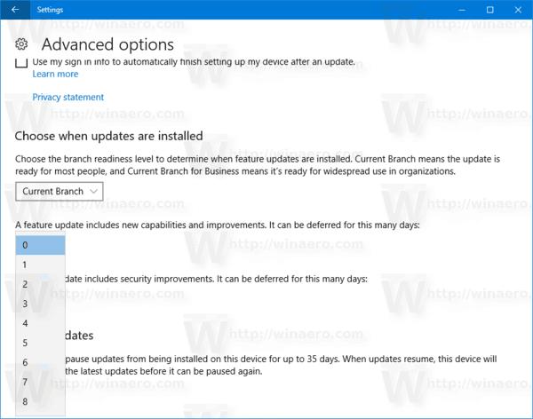 Windows 10 Defer Feature Update
